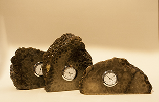 Petoskey Stone Clocks (Wall Hanging Available)
