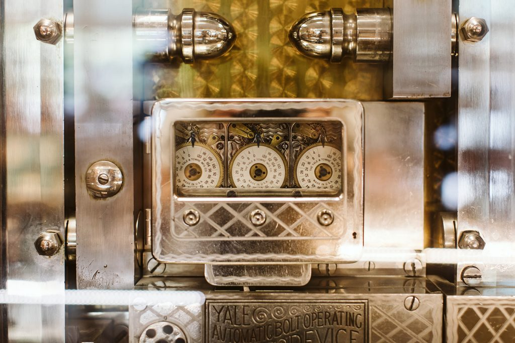 A piece of history- the original 1907 bank vault